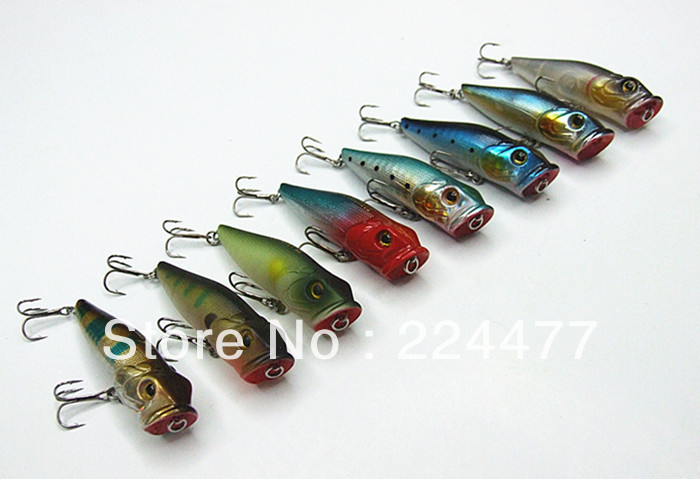 6.5cm/8.5g Floating Type Poper Lure Fishing Lure Fishing Tackle With Chinese Hook