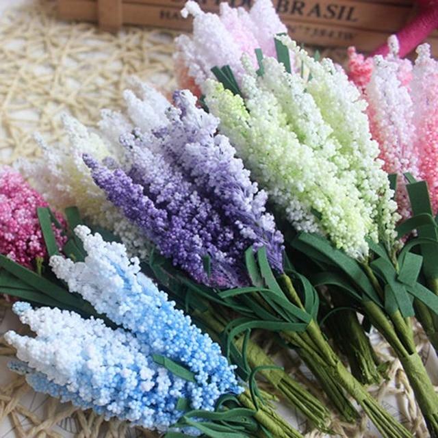 14CM Fake Lavanda for Home Decor,Artificial Foam PE Hyacinth Bouquet,Wedding Decoration Centerpieces,Boutonniere Mariage Homme-in Artificial & Dried ...