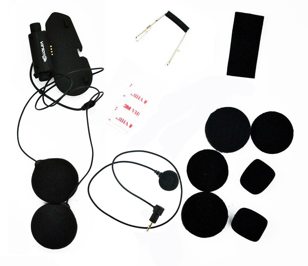 Original Motorcycle Bluetooth Helmet Headset Base Accessories Kit Soft Earphone Earpiece Mic For Vimoto V6 V3 Full Face Helmet