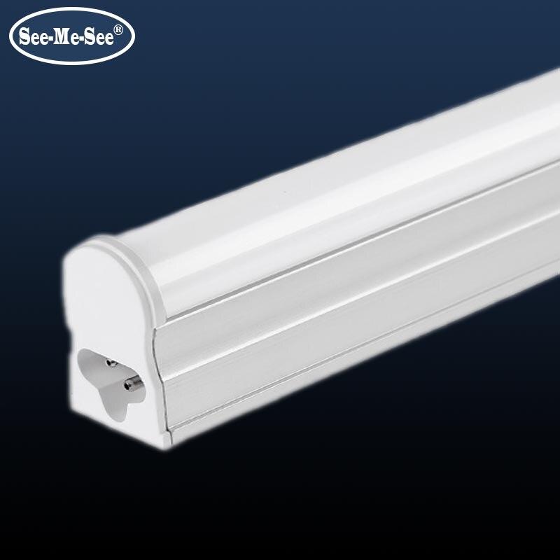 10 unids/lote 1ft 2ft 3ft 300MM 600MM 900MM 4 MM 10W 14W AC85-265V alta PF de alta luminosidad t5 tubo led Lámpara de tubo LED T5 4W 8W 12W 14W 16W 220V tubo fluorescente de plástico PVC 6W 10W 30/60cm lámpara de pared LED blanca cálida fría