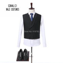 Terno Masculino 2018 New Design Fashion Formal Wedding Party Suits Custom Made Black Three Pieces Suit Bruiloft Men Groom Suit