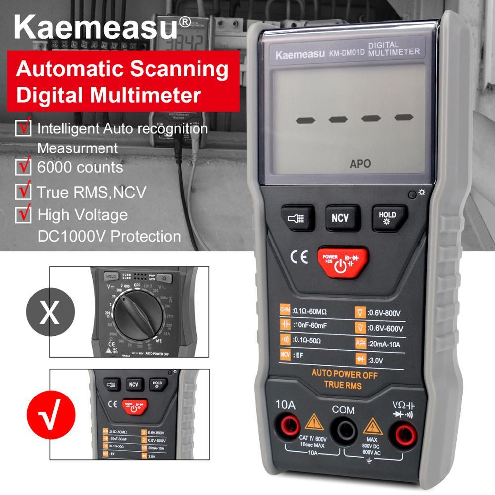kaemeasu Intelligent Automatic Scanning Digital Multimeter 3 5/6-digit DC/AC Electronic Maintenance instrument Tools KM-DM01D