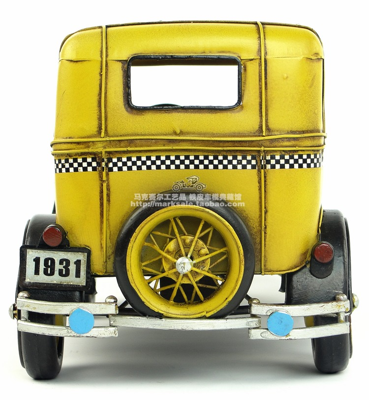 Antique classique taxi voiture modèle rétro vintage en métal forgé artisanat pour la maison/bar/café décoration ou cadeau d'anniversaire-in Figurines et miniatures from Maison & Animalerie    3