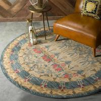 Nordic Retro Ethnic Jacquard Mandala Round Mat Flower Nordic Printed Round Carpet For Livingroom Kids Room Large Area Rug Ho