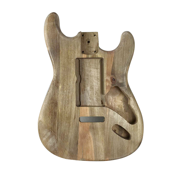 Wood type electric guitar accessories ST electric guitar barrel material maple guitar barrel body musiclily 3ply pvc outline pickguard for fenderstrat st guitar custom
