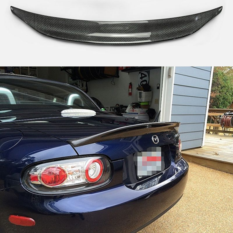 Car-styling For MX5 NC NCEC Roster Miata EPA Type 3 Carbon Fiber Rear Spoiler Glossy Fibre Trunk Wing Lip(PRHT Hard Top Only) image