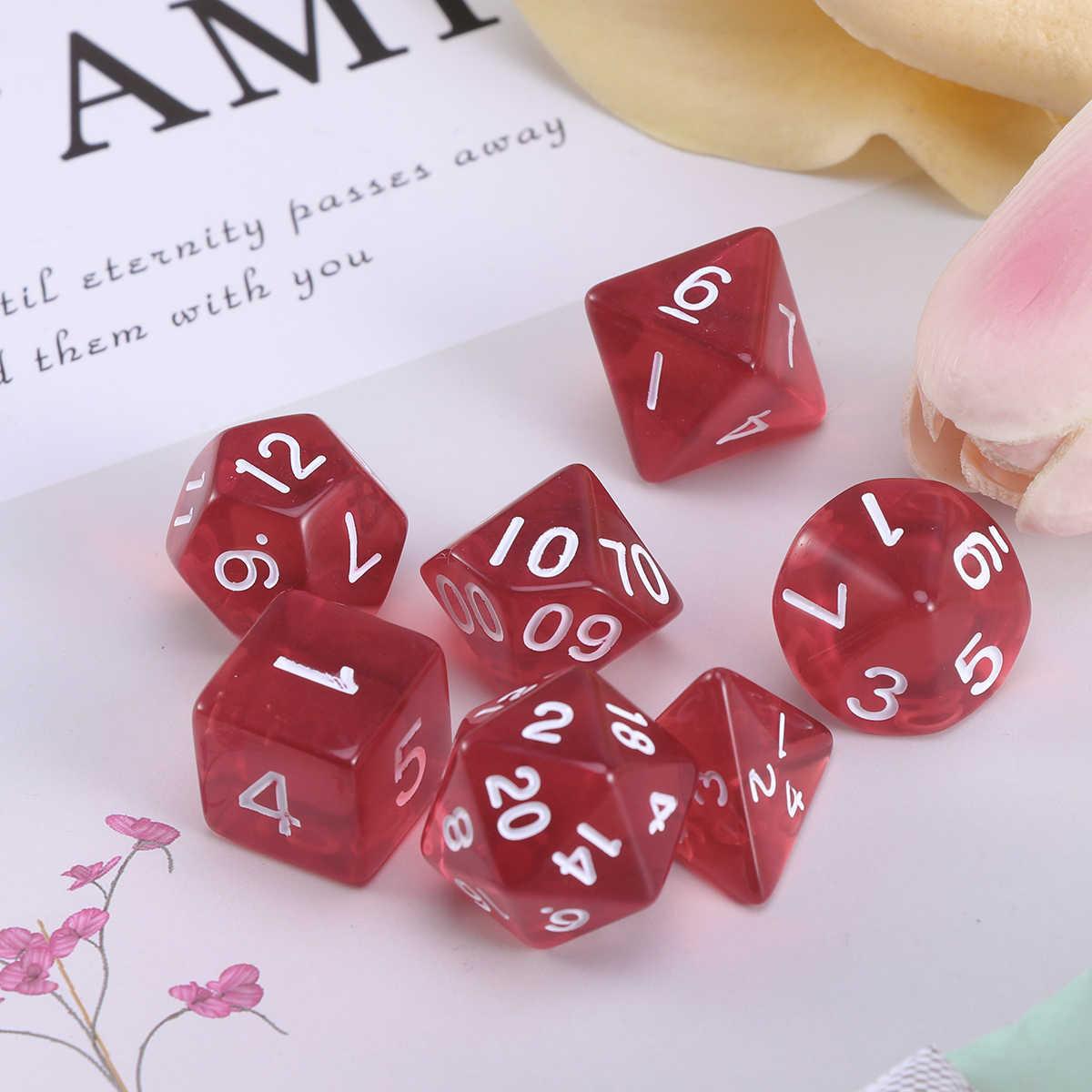 20 Sided Game Dice D20 Poliédrica Dos Dados Para Jogos de Mesa Dungeons And Dragons (Vermelho)