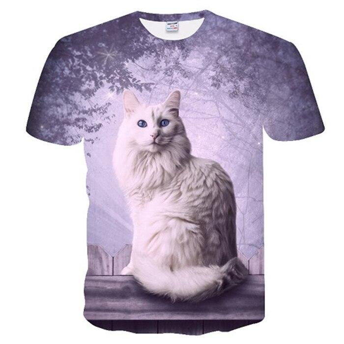 Новинка, футболка для мужчин/женщин, 3d принт, мяу, черный, белый, кот, хип-хоп, Мультяшные футболки, летние топы, футболки, модные 3d футболки, M-5XL - Цвет: txu-168