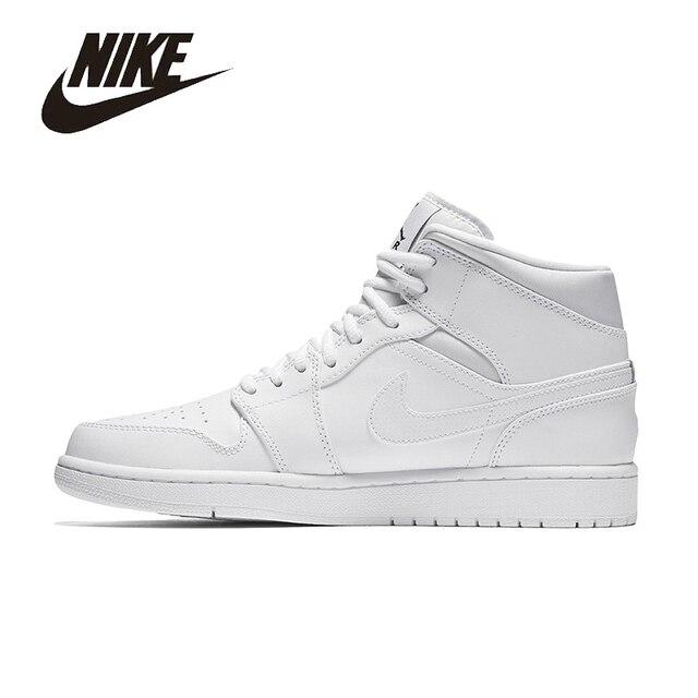 NIKE Original AIR JORDAN 1 MID AJ1 Mens Basketball Shoes Mesh Breathable  High Quality Sneakers Shoes