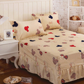 Bed Sheet Set Bedding Sets Mickey and Minnie Mouse Bed Sheet,Mattress Cover,Bedspread,Contain 1 Bed Skirt 2 Pillowcase #AY15