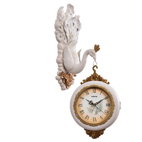 Vintage Peafowl Wall Clock Double Face Guess Women Watch Mechanism Clocks Silent Pow Patrol Retro Wedding Decorations 50ZB053