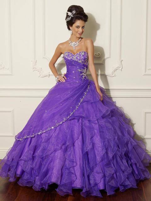 Frete grátis 2014 Sexy querida apliques Real amostra vestido de baile Quincenera vestido doce 16 vestidos de baile