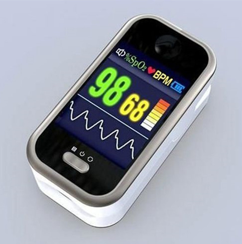 Display PR PI Pulse Heart Rate Finger Tip Pulse Oximeter Blood Oxygen Saturation SpO2 oximeter CMS50H pm50 24 hour automatic ambulatory blood oxygen saturation pulse rate medical patient monitor