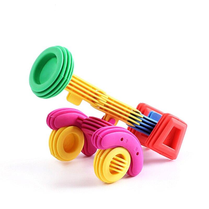Adaptable 50 Pcs Tussendeur Bouwstenen Kids Grappige Plastic Educatief Speelgoed Voor Kinderen 3d Bouw Speelgoed Baby Diy Bullet Desig Om Een Gevoel Op Gemak En Energiek Te Maken