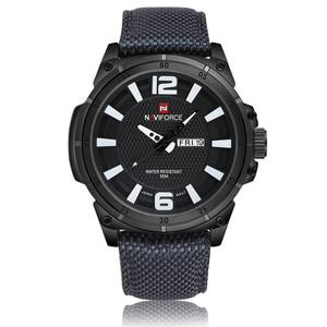 Image 5 - NAVIFORCE למעלה מותג צבאי שעונים גברים אופנה מזדמן בד עור ספורט קוורץ שעוני יד זכר שעון Relogio Masculino