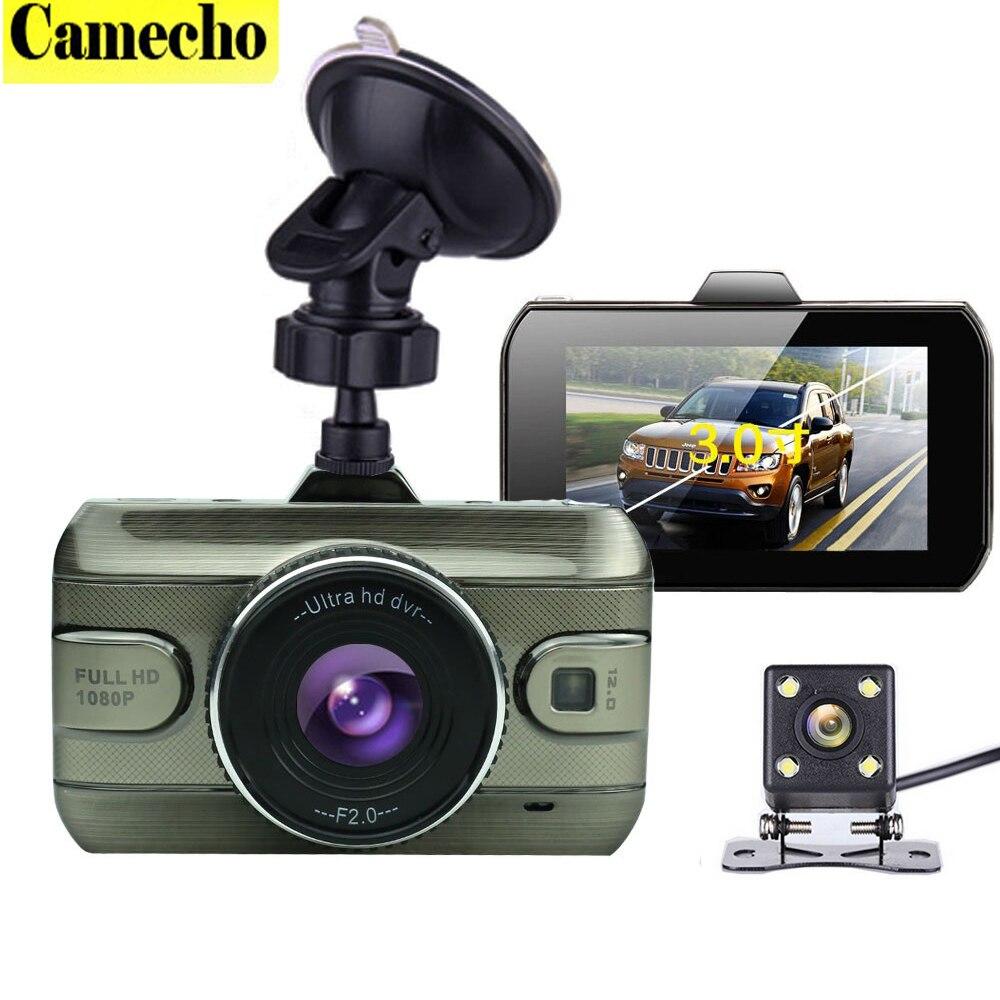 imágenes para 2017 Nueva Lente Dual Del Coche DVR Dashcam Cam 1080 P Full HD Grabador de Vídeo Registrator de Reserva Retrovisor de la Cámara Sensor de Visión Nocturna