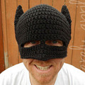 New Funny Handmade Batman Mask Hats Knitted Beanie hat Man Women Winter Caps Black gorras hombre Creative Cap Party Gift 2017