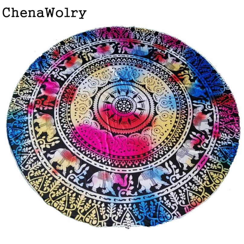 2017 Hot New Fashion Home & Living Luxury Round Beach Pool Home Shower Towel Blanket Table Cloth Jan 16