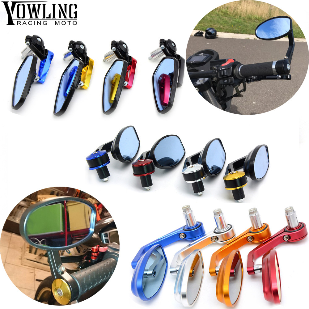 Universal Motorcycle Mirror View Side Rear Mirror 22\24mm Handle bar For Honda MSX 125 300 MSX125 MSX300 125MSX 300MSX motorcycle wind shield handle hand guard abs transparent handguards for honda msx125 msx300 msx 125 msx 300 msx125 300 pcx 125