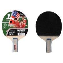 WEING 1006 ракетка для настольного тенниса прямая ручка теннисная Резиновая короткая ручка пинг ракетки для Понга Набор