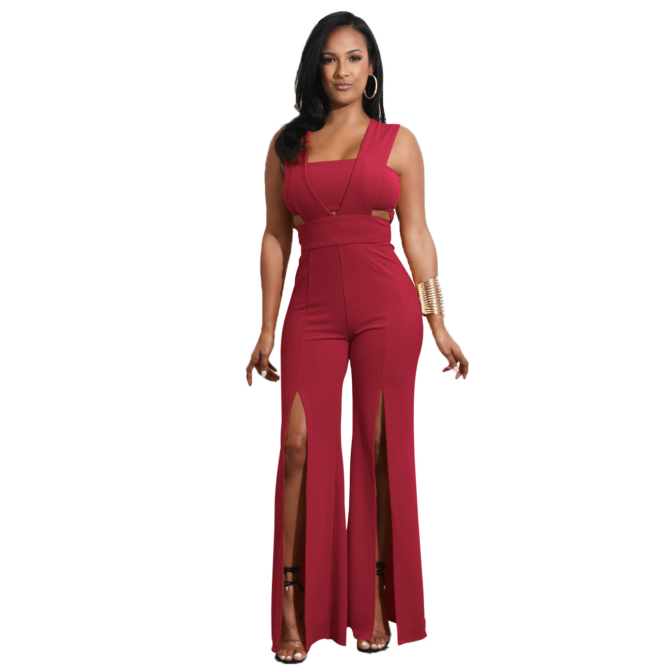Plus Size Jumpsuits And Rompers For Women Promotion Time-limited Polyester Casual Straight 2018 New Sexy Women Jumpsuit