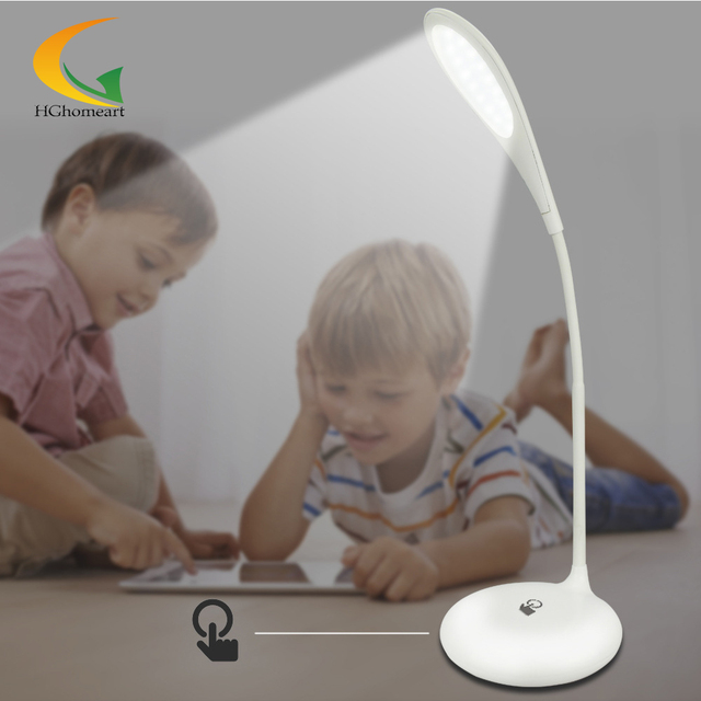 RGB colors Touch Switch Desk Lamp 110V 220V led color change reading light Rechargeable Folding LED Light Book Reading Lamp