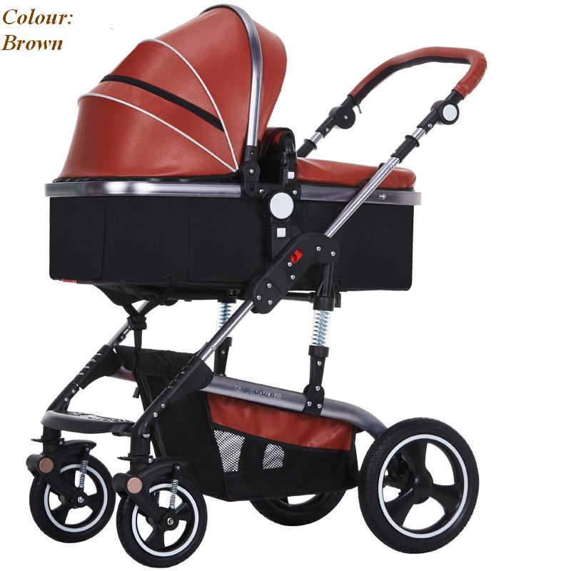 Luxury Baby Stroller Can Seat Can Sleep Fashion Style Foldable Stroller Easy Clean Baby