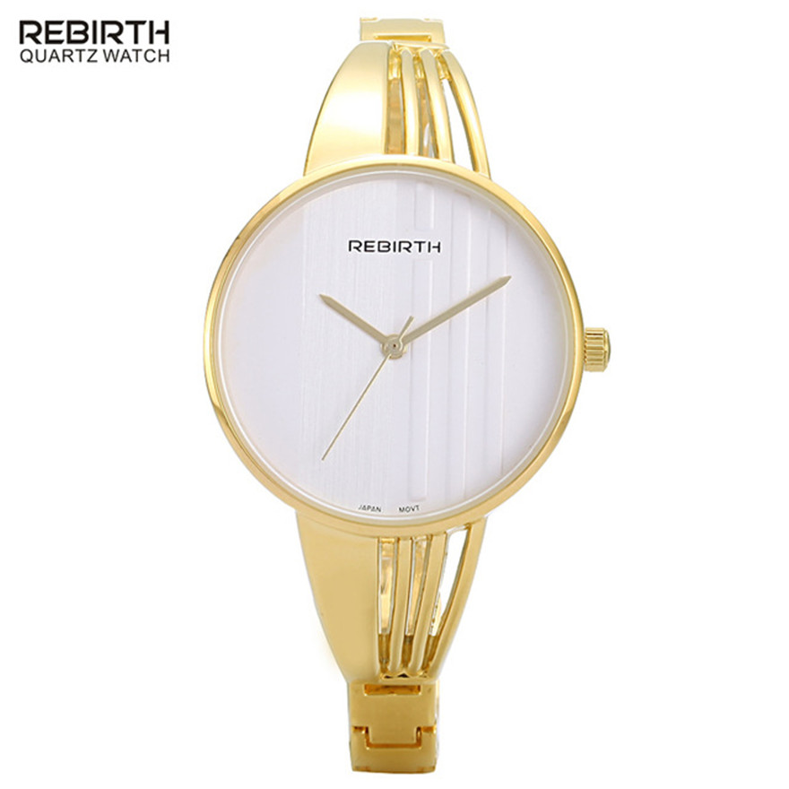 Fashion REBIRTH Brand Watches Women Elegant Wristwatch Lady Dress Quartz Watch Female Waterproof Watch Gift Relogio Femenino ybotti luxury brand men stainless steel gold watch men s quartz clock man sports fashion dress wrist watches relogio masculino