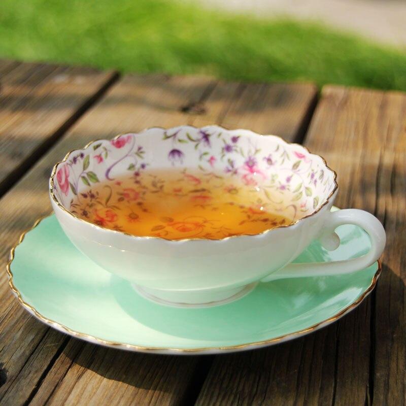 Ingilizce Ikindi Çayı, Yüksek Dereceli Kemik Çini Kahve Fincanı - Mutfak, Yemek ve Bar - Fotoğraf 3