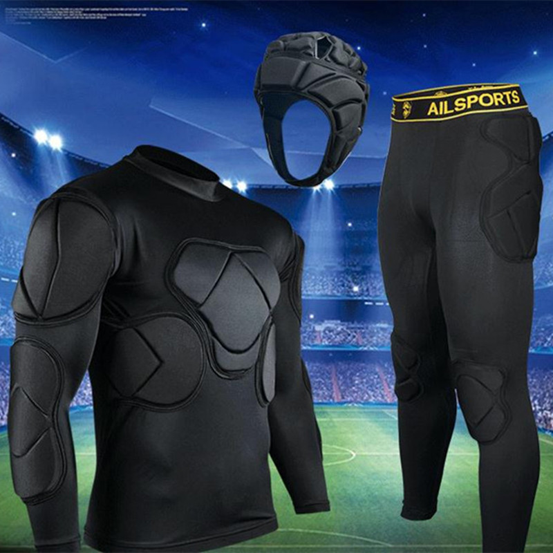 Rugby Football Soccer Jerseys Goalkeeper Uniforms Thickened Sponge Defend Pants EVA Padded Latex Anti-collision Elbow Knee Pads
