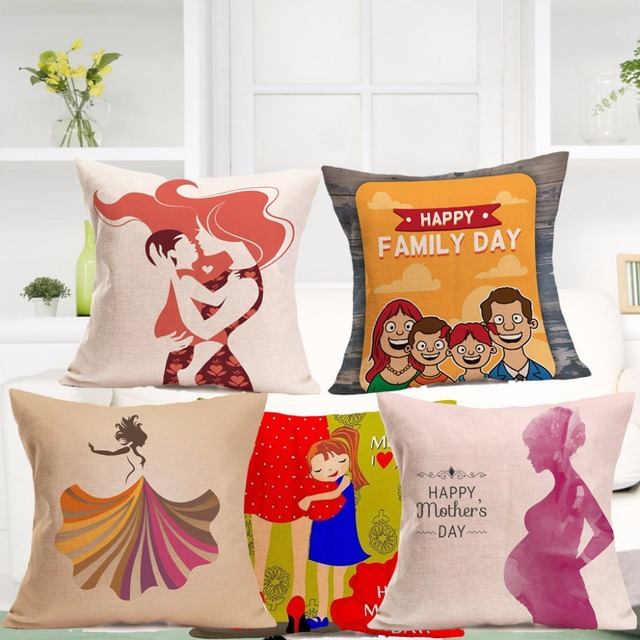 mother s day decorative pillow case bed room sofa home decoration
