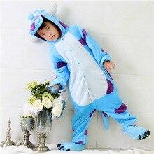 Children Pajamas Cosplay Cartoon Animal Sullivan Onesie Kids Sleepwear Baby  Long Sleeve Pijama Infantil Kids Boy Girls Clothes e7a8ba43e