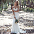 W1172 Sexy Simple Lace Backless Mermaid Long Wedding Dress Sweetheart Vestido De Noiva Curto Renda