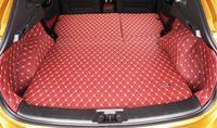4 cores 7 pçs forro de carga esteira do tronco do carro para nissan qashqai 2016 tapete interior tapetes de couro almofada do carro estilo|Estilo de cromo| |  -