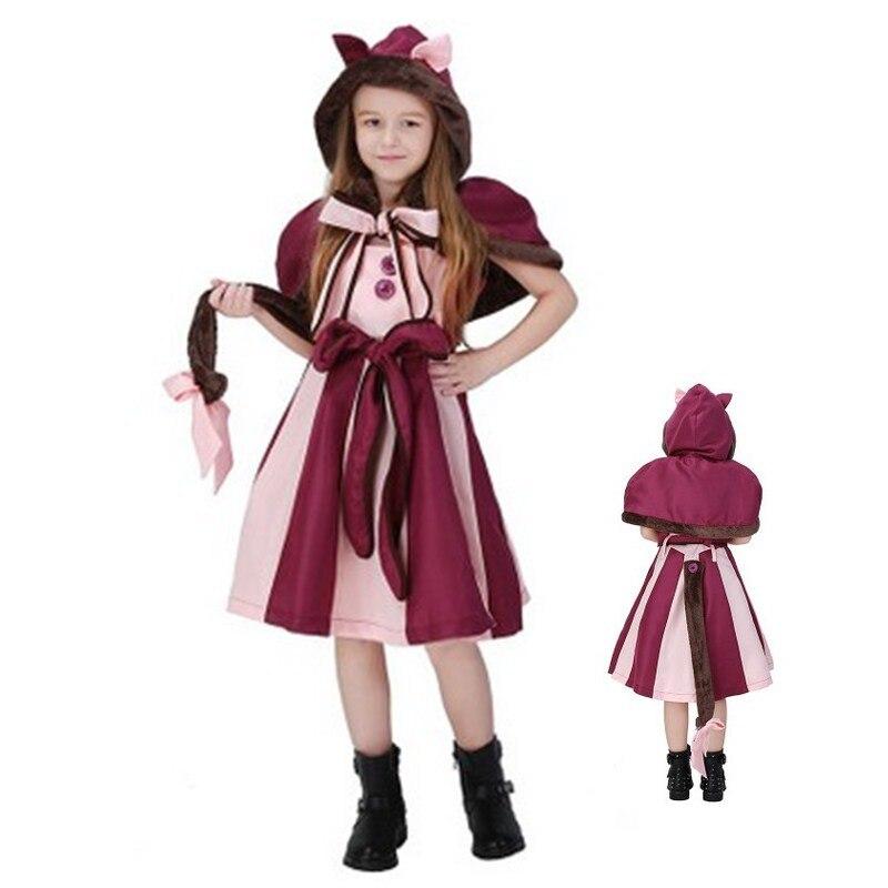 Новая детская Алиса в стране чудес cosplays Обувь для девочек на Хэллоуин Чеширский кот костюм животного Рождество шоу на сцене ролевая игра пр...