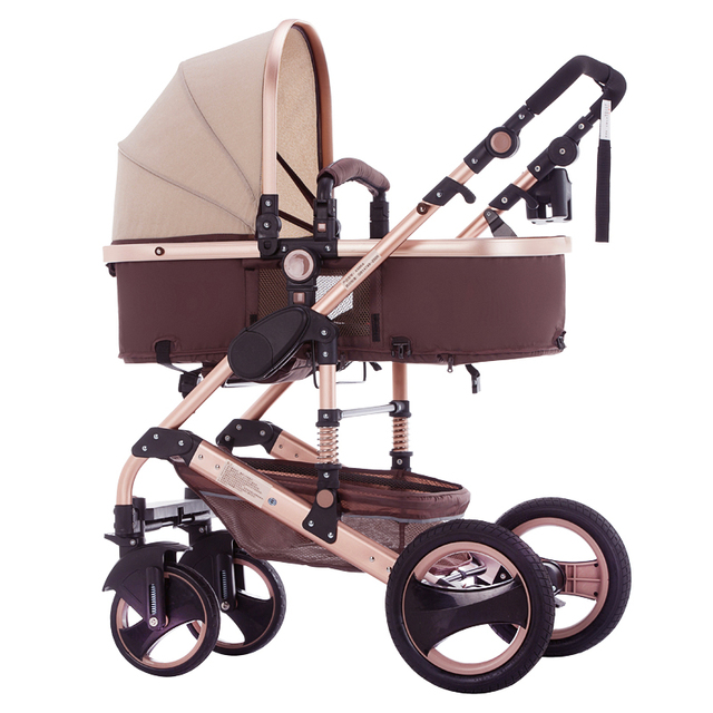 Baby Stroller 3 In 1 With Car Seat For Newborn Light Weight High Landscape Carriages
