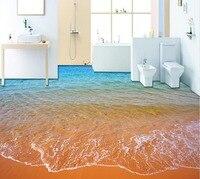 Современные пользовательские 3D пол Mural пляжные тапочки Нескользящие водонепроницаемые Самоклеящиеся ПВХ обои