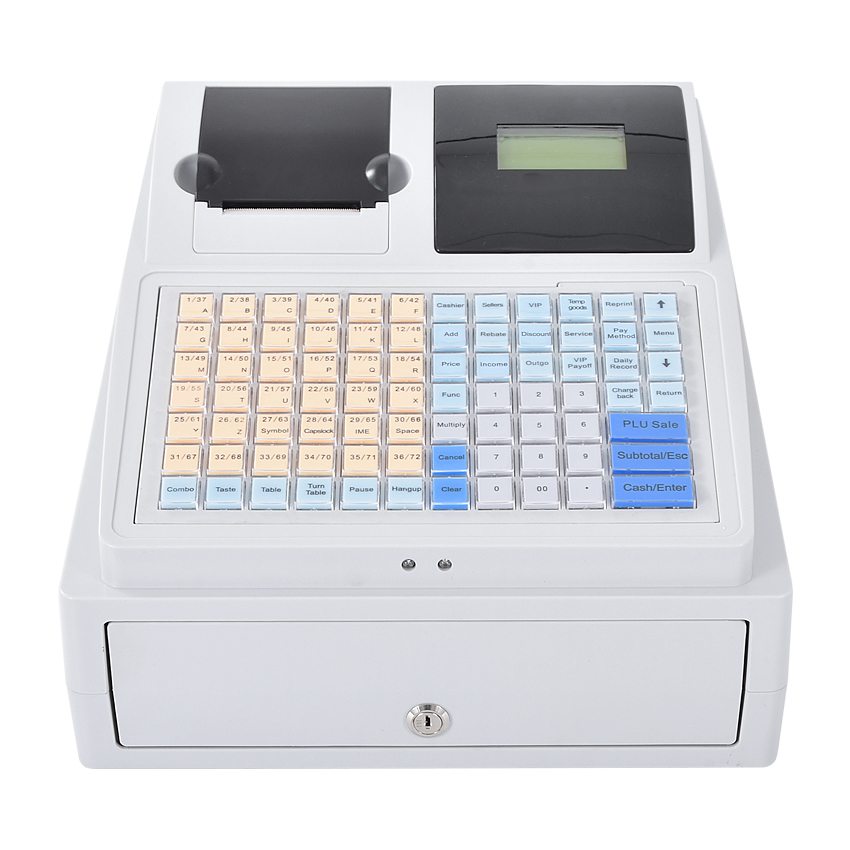 C-50 Electronic Cash Registers Cash Register POS Cash Register 8V Multifunctional Catering Cash Register For Supermarket Milktea