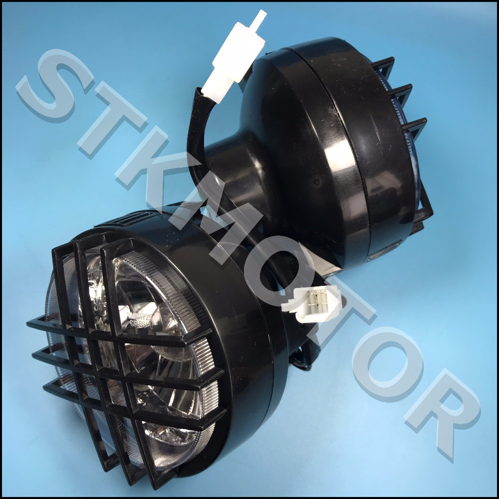 Left And Right Bug Eyed Dual LED Head Light Headlight Headlamp For 2009-2015 YAMAHA Zuma BWS 125 YW125
