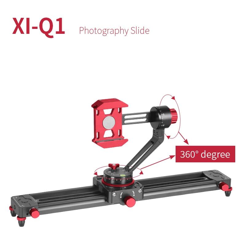 XILETU XI-Q1 13.7inch Tabletop Mini Camera/Smartphone Video Track dolly Slider Rail System For Arca Swiss Digital Camera Phone цена и фото