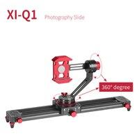 XILETU XI Q1 13.7inch Tabletop Mini Camera/Smartphone Video Track dolly Slider Rail System For Arca Swiss Digital Camera Phone