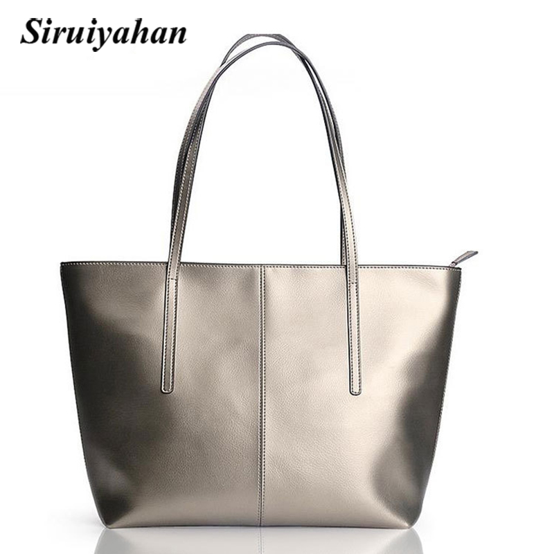 Siruiyahan Women Messenger Bags Large Shoulder Women Bag Genuine Leather Bag Women Messenger Leather Bags Solid Zipper Tote caerlif famous brand genuine leather bags for women solid flower multicolor ms shoulder bag women large package messenger bags