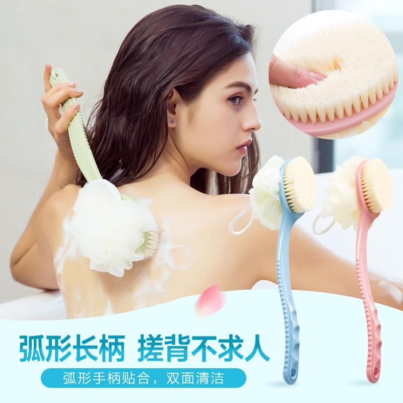 back brush Soft hair long handle rubbing back bath shower bath artifact