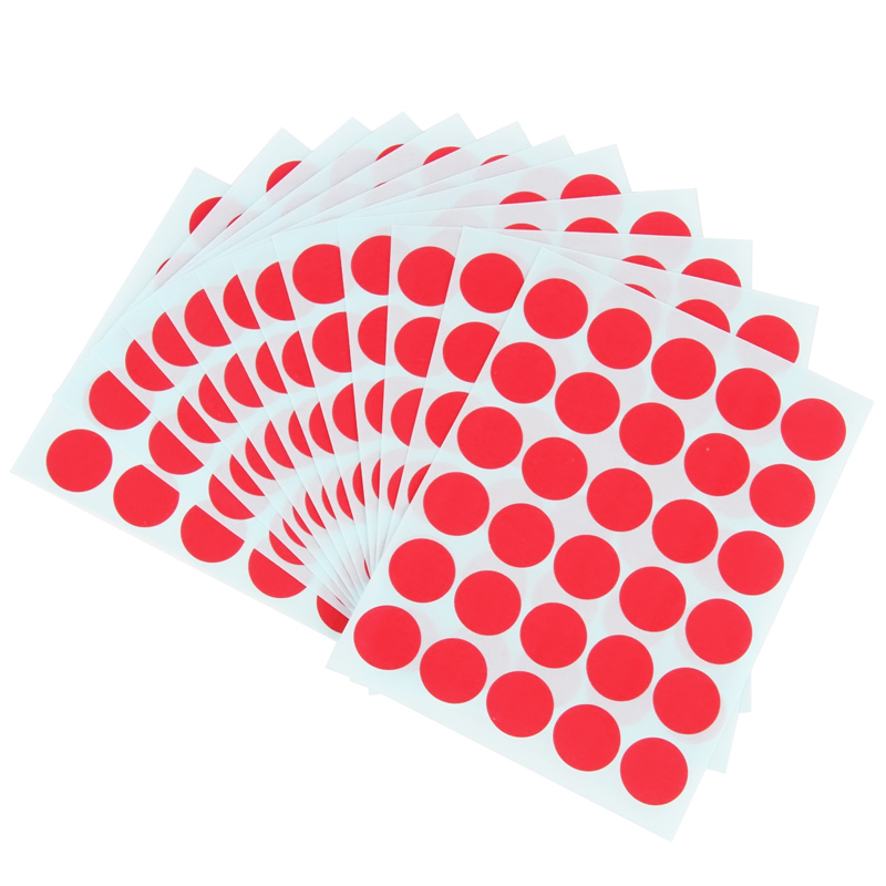 1 pack 12 sheets red color round sticker labels self adhesive paper label office 90x120mm easy to write deli 6422 in memo pads from office school supplies