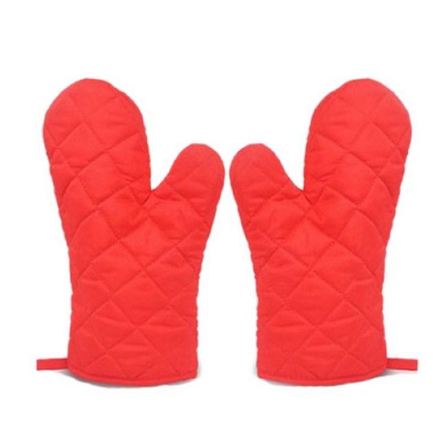 kitchen mittens blue tile backsplash 1 pair gloves grill bbq baking cooking glove oven heat resistant mitts random