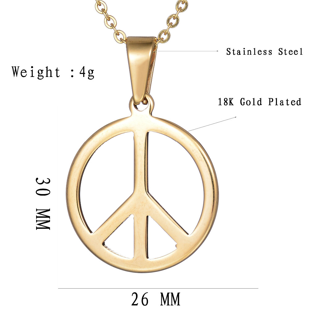 Special meaning stainless steel anti war pendnat necklace gold color special meaning stainless steel anti war pendnat necklace gold color peace sign pendant necklace for party in pendant necklaces from jewelry accessories buycottarizona Gallery