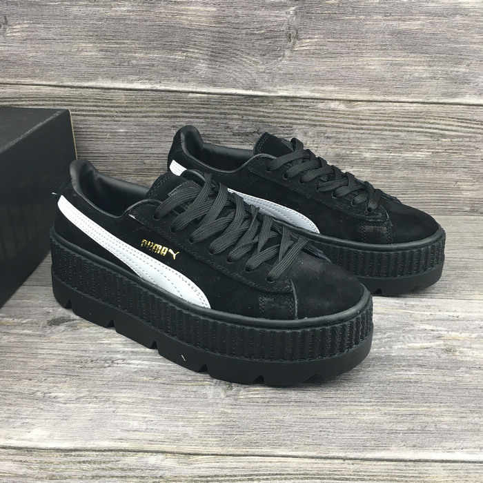 PUMA FENTY Suede Cleated Creeper Rihanna Classic Height Increasing Cow  Muscle Tone Simple Badminton Shoes 36 421d4bd9a