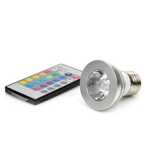 1PCS RGB <font><b>Umbrella</b></font> Bulb Ampoule Lampe 16 couleurs <font><b>LED</b></font> 3W RGB 100-240V <font><b>E27</b></font>/E26 RGB Remote-Controlled