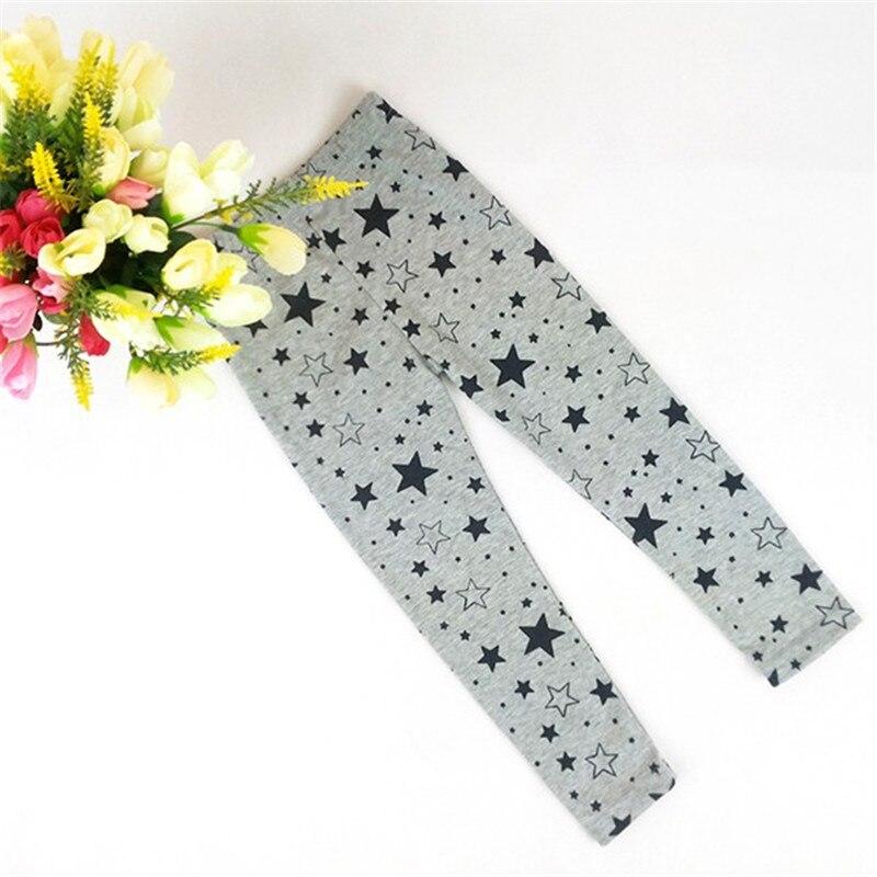 Star Printed Kid Girls Baby Stretchy Leggings Trouser Warm Slim Pants 2-7Y stretchy letter print slim leggings