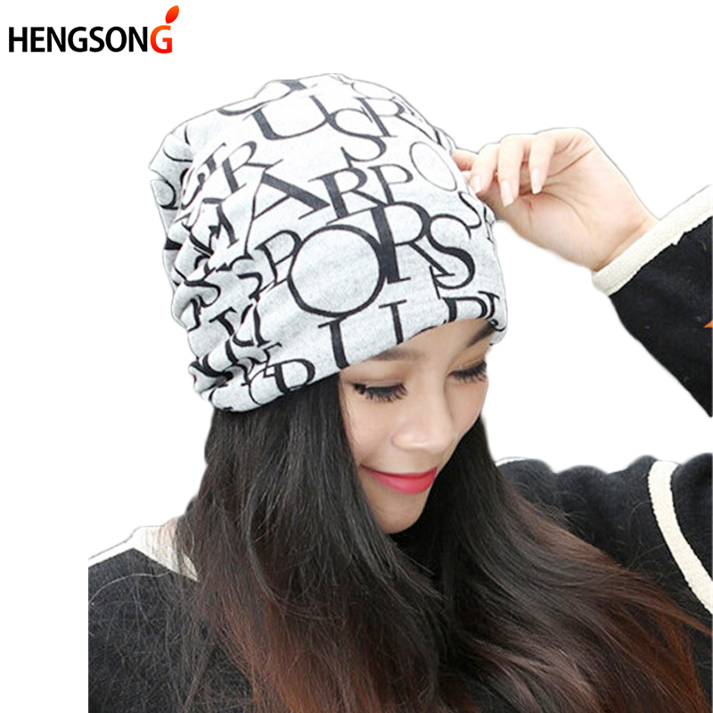 Autumn Winter Casual Brand Hats for Women Plaid Lady Caps Letter Printed Pile Cap Female Beanies Wholesale and Retail